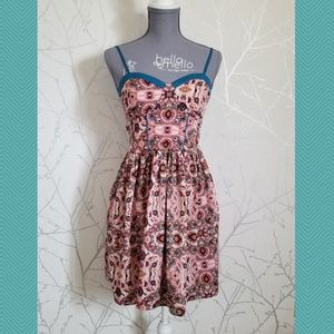 Band of Gypsies Abstract Fit n Flare Sundress